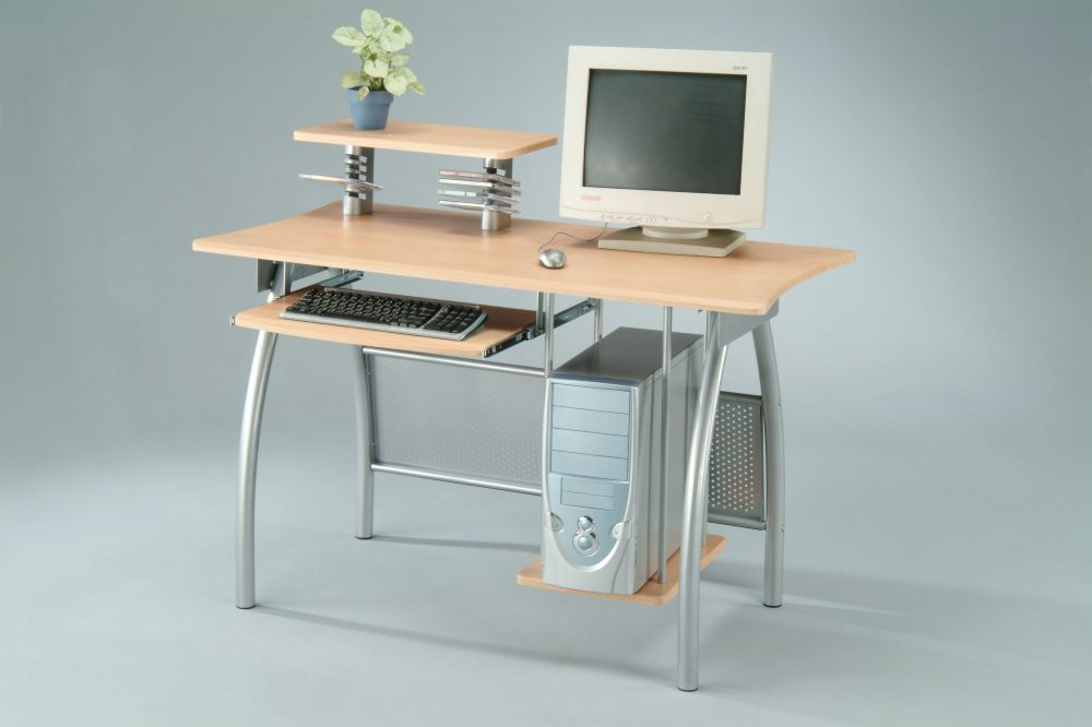 Computer desk in dining room