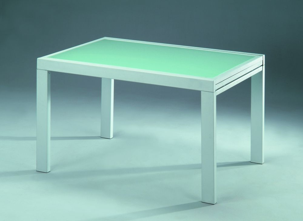 Mesa de comedor de diseno extensible con cristal - Mesas cristal diseno ...