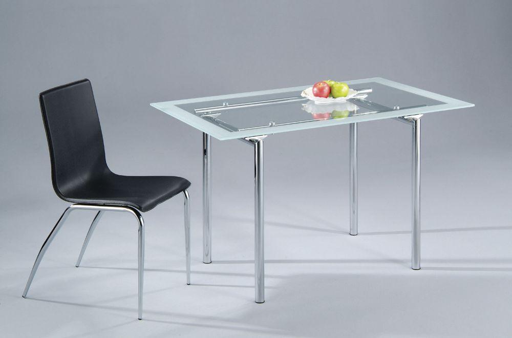 Mesa de comedor redonda con cristal y pata en fibra vidrio - Mesa comedor cristal redonda ...