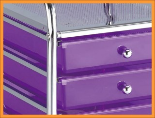 Plastic Drawer Storage Cart