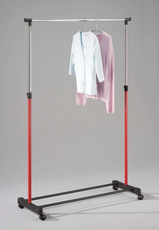 Metal Single Hanging Bar Clothes Trolley Cart - SA020 |