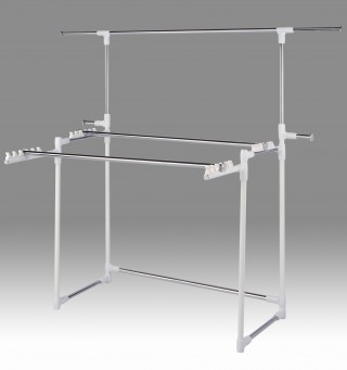 Metal bar Folding Clothes Stand