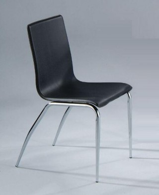 Taper Tube Synthetic Leather Dining Chair