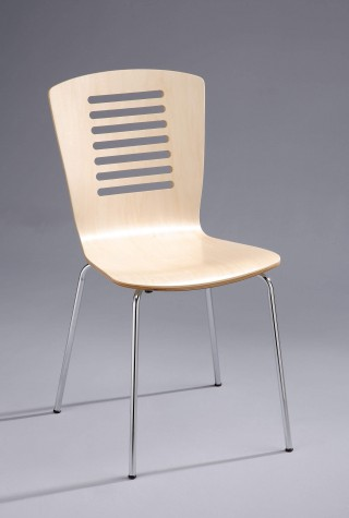 Metal Legs Frame 7 Lines Bentwood Dining Chair