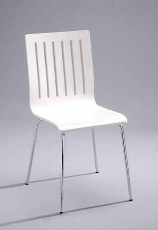 Metal Legs Frame 6 Vertical Lines Bentwood Dining Chair - SC043 |