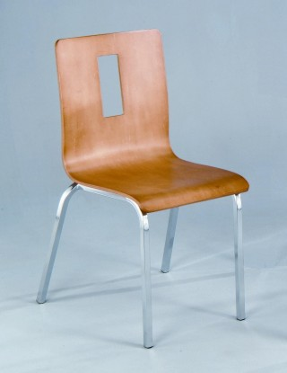 Square Metal Legs Frame Bentwood Dining Chair