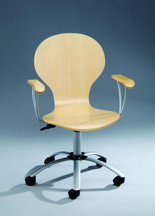 Bentwood Round Office Chair