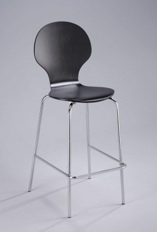 Metal Leg Frame Round Bentwood Bar Stool Chair