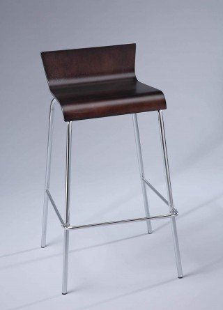 Metal Leg Frame Bentwood Bar Stool Chair