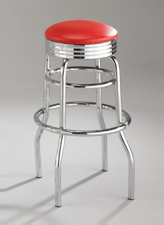 Metal Leg Frame Round Bar Stool Chair