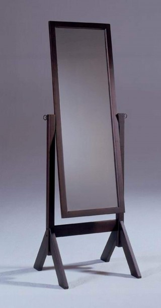 Solid Wood Rectangular Standing Mirror