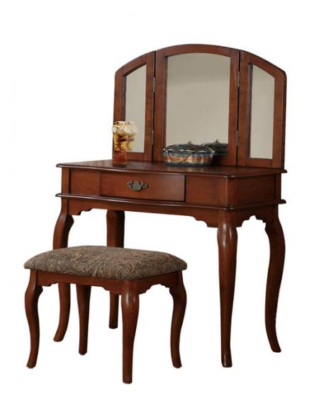 Tir-fold Mirror Vanity Set Dressing Table