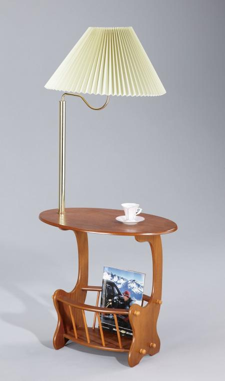 Magazine Table with Lamp-shade - SR044 | ,oak color