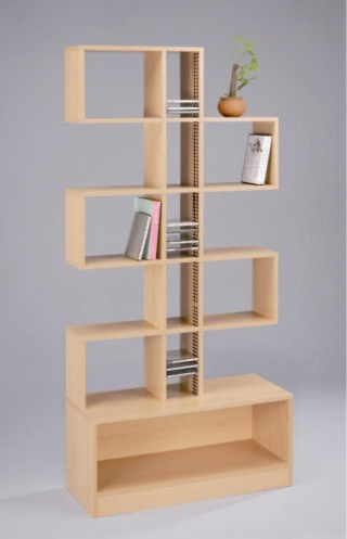 6-Tier Wood Bookcase