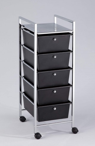Rolling Organizer Plastic Cart, 5 Large Drawers - SS025 |