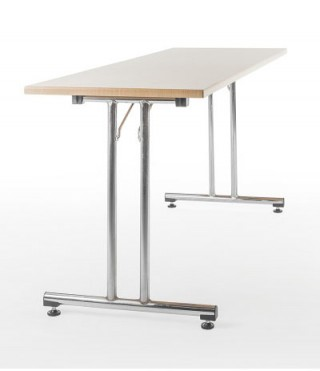 Wood Table with Foldable metal legs - ST021 |