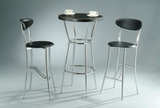 3 Piece Synthetic Leather Snoopy Bar Table Set