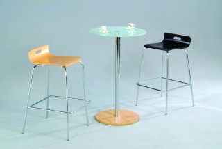3 Piece Round Glass Bar Table Set