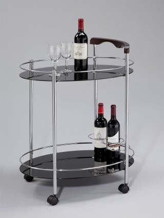 Glass Wine Trolley Cart