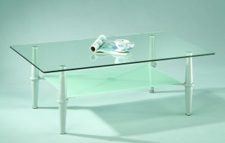 Stylish Rectangular Glass Coffee Table Trolley
