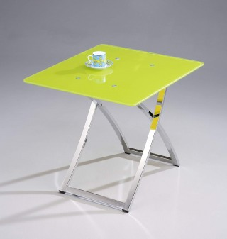Stylish Square Glass End Table