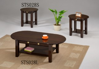 3 pcs Round Wood Coffee Table Sets