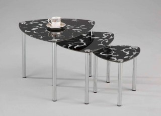 Living Room Furniture Flower Printed Nesting Table