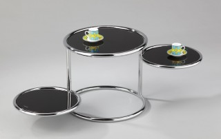 Stylish Turning Round Glass Tea End Table