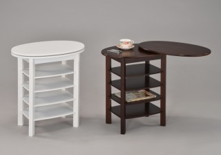 Swivel Wooden End Table