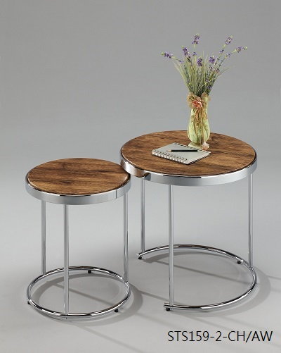 Living Room Furniture 2 pc Nesting Table