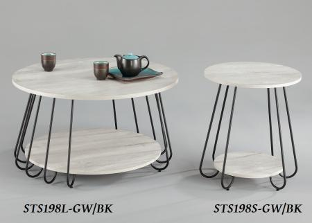 Chic Round Coffee Side Table Set