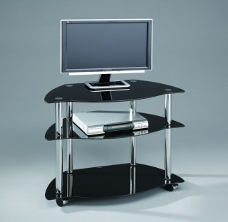 Mobile 3-Tier TV Stand